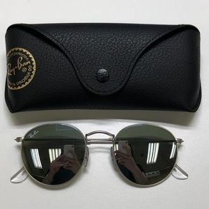 🕶️Ray-Ban Round RB3447 Sunglasses/719/TIZ137🕶️